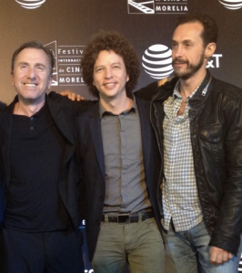 Tim Roth and his directors, Michel Franco and Gabriel Ripstein