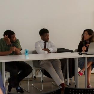 L-R Dilcia Barrera, Tamir Muhammad and Walter Newman